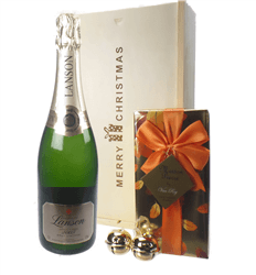 Lanson Vintage Christmas Champagne and Chocolates Gift Box