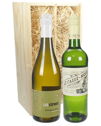 Sauvignon Blanc Two Bottle Wine Gift in Wooden Box