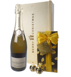 Louis Roederer Christmas Champagne and Chocolates Gift Box