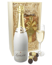 Lanson White Label Champagne & Belgian Chocolates Gift Box