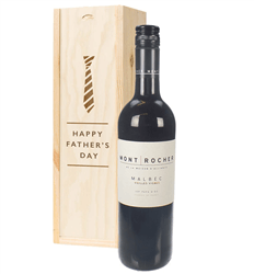 French Malbec Red Wine Fathers Day Gift In Wooden Box