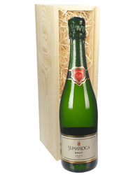 Cava Sparkling Wine Gift in Wooden Box