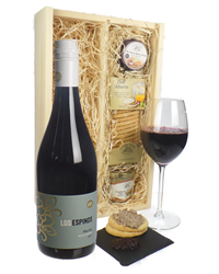 Merlot Red Wine And Gourmet Food Gift Box
