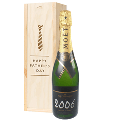 Moet et Chandon Vintage Fathers Day Gift In Wooden Box