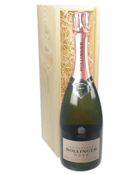 Bollinger Rose Champagne Gift in Wooden Box