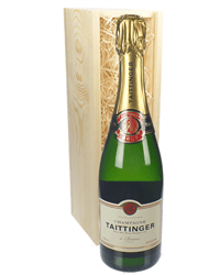 Taittinger Brut Champagne Gift in Wooden Box