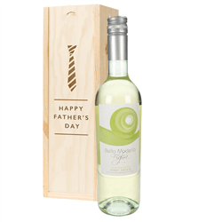 Pinot Grigio White Wine Fathers Day Gift In Wooden Box