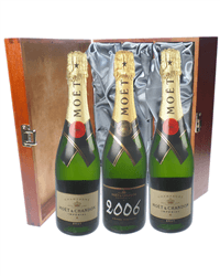Moet NV and Vintage Triple Luxury Gift