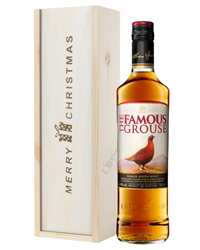 Famous Grouse Whisky Christmas Gift In Wooden Box