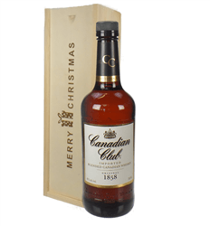 Canadian Club Whisky Christmas Gift In Wooden Box