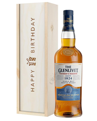 Glenlivet Founders Reserve Single Malt Whisky Birthday Gift In Wooden Box