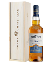 Glenlivet Founders Reserve Single Malt Whisky Christmas Gift In Wooden Box