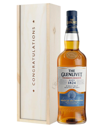 Glenlivet Founders Reserve Single Malt Whisky Congratulations Gift In Wooden Box