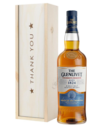 Glenlivet Founders Reserve Single Malt Whisky Thank You Gift In Wooden Box