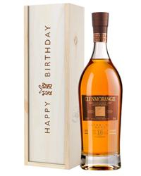 Glenmorangie 18 Year Old Single Malt Whisky Birthday Gift In Wooden Box