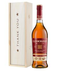 Glenmorangie Lasanta Single Malt Whisky Thank You Gift In Wooden Box