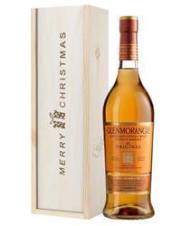 Glenmorangie Original Single Malt Whisky Christmas Gift In Wooden Box