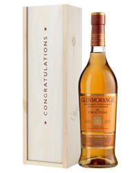 Glenmorangie Original Single Malt Whisky Congratulations Gift In Wooden Box