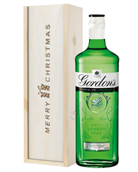 Gordons Gin Christmas Gift In Wooden Box
