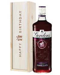 Gordons Sloe Gin Birthday Gift In Wooden Box