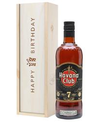 Havana Club 7 Year Old Rum Birthday Gift In Wooden Box
