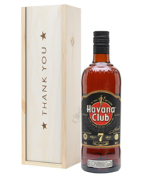 Havana Club 7 Year Old Rum Thank You Gift In Wooden Box