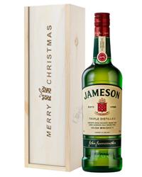Jameson Irish Whiskey Christmas Gift In Wooden Box