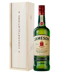 Jameson Irish Whiskey Congratulations Gift In Wooden Box
