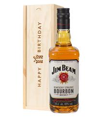 Jim Beam Kentucky Bourbon Whiskey Birthday Gift In Wooden Box