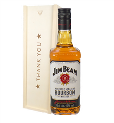 Jim Beam Kentucky Bourbon Whiskey Thank You Gift In Wooden Box