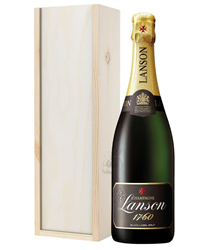 Lanson Champagne Gift in Wooden Box