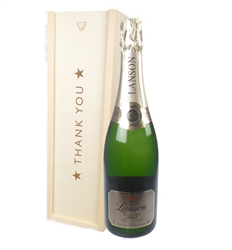 Lanson Gold Label Vintage Champagne Thank You Gift In Wooden Box