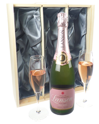 Lanson Rose Champagne Gift Set With...