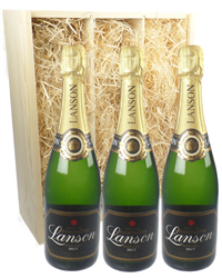 Lanson Three Bottle Champagne Gift ...