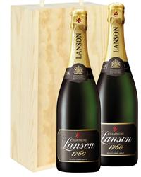 Lanson Two Bottle Champagne Gift in...