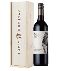 Limestone Coast Cabernet Sauvignon Red Wine Birthday Gift In Wooden Box