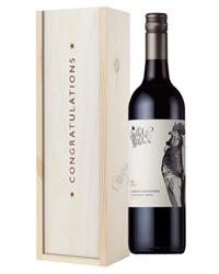 Limestone Coast Cabernet Sauvignon Red Wine Congratulations Gift In Wooden Box