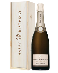 Louis Roederer Champagne Birthday Gift In Wooden Box