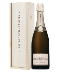 Louis Roederer Champagne Congratulations Gift In Wooden Box