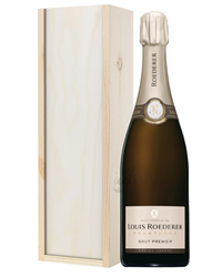 Louis Roederer Champagne Gift in Wooden Box