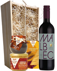 Malbec Wine & Gourmet Food Gift Box