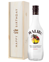 Malibu Birthday Gift In Wooden Box