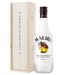 Malibu Congratulations Gift In Wooden Box