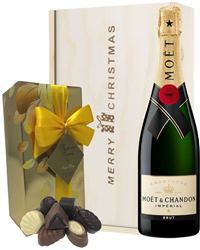 Moet & Chandon Christmas Champagne and Chocolates Gift Box
