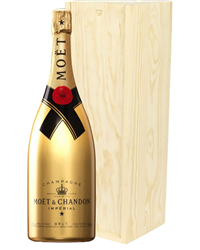Moet and Chandon Gold Edition Champagne Magnum 150cl in Wooden Gift Box