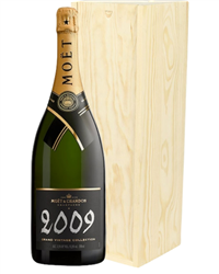 Moet & Chandon Vintage Champagne Magnum 150cl in Wooden Gift Box