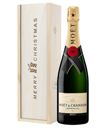 Moet et Chandon Champagne Single Bottle Christmas Gift