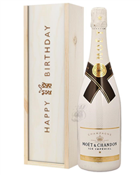 Moet Ice Imperial Champagne Birthday Gift In Wooden Box
