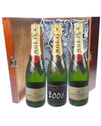Moet NV and Vintage Champagne Tripl...