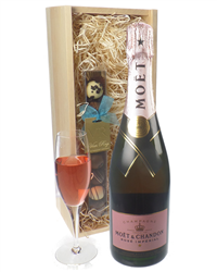 Moet Rose Champagne and Chocolates ...